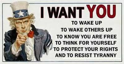 WTE3 Column #50 Illustration -- Wake Up and Resist Tyranny