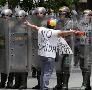 WTE3 Column #95 Illustration -- Protesting Starvation in Venezuela