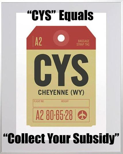 WTE3 Column #100 Illustration --- 'CYS' Equals 'Collect Your Subsidy'
